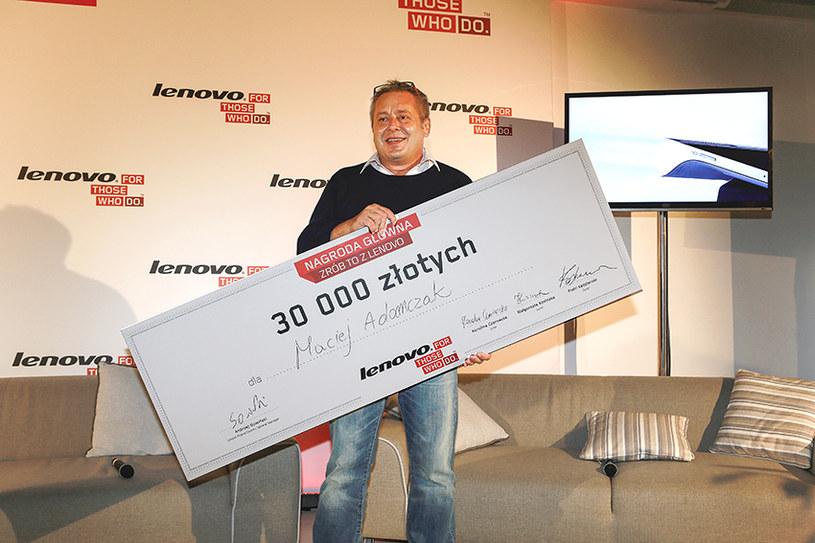 """Maciej Adamczak - zwycięzca drugiej edycję konkursu """"Zrób to z Lenovo"""" /materiały prasowe"""