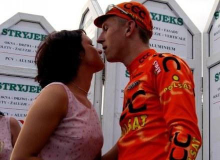 Maciej Bodnar i jego sympatia, teraz razem na Tour de Pologne /Agencja Przegląd Sportowy