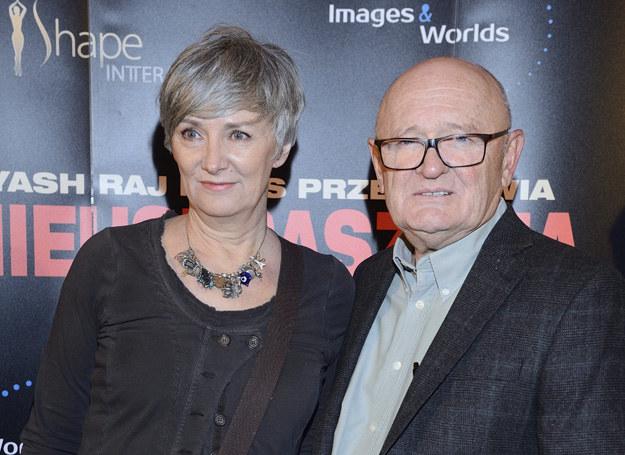 Maciej Damięcki z żoną /MWMedia