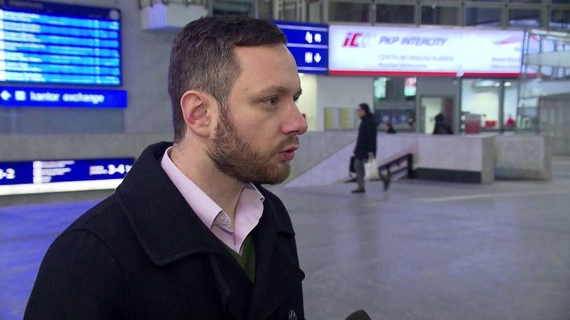 Maciej Dutkiewicz, rzecznik Polskich Linii Kolejowych /TVN24/x-news