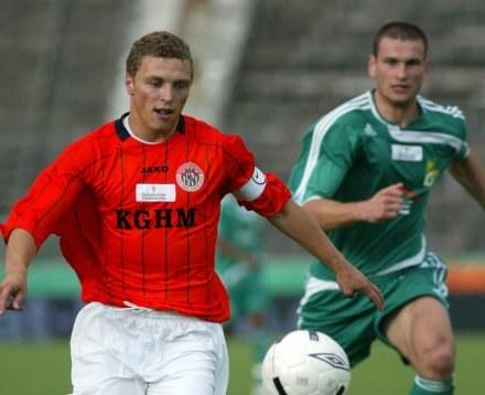 Maciej Iwański zaliczył asystę, fot: Krystyna Paczkowska /Agencja Przegląd Sportowy