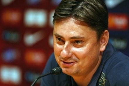 Maciej Skorża nie chciał odpowiadać na pytania. /AFP