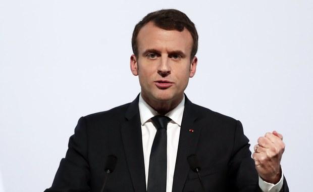 """Macron: Francja """"uderzy"""" w Syrii, jeśli dojdzie tam do użycia broni chemicznej"""