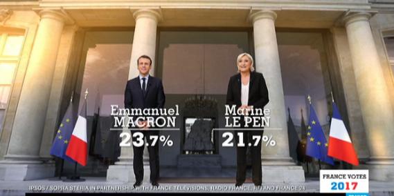 Macron i Le Pen w drugiej turze /