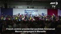 Macron zaatakował Front Narodowy na wiecu w Marsylii