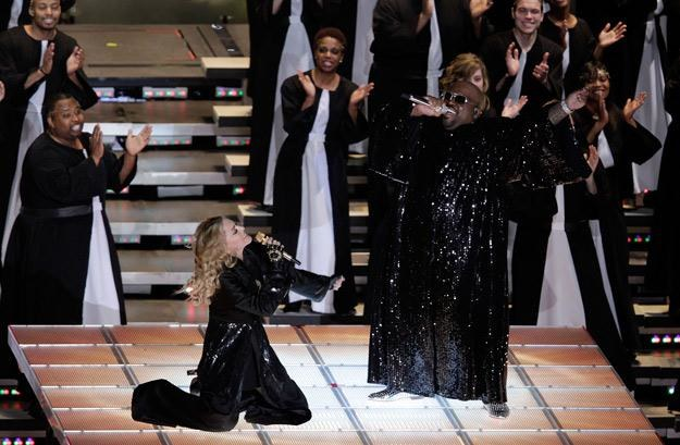 Madonna i Cee Lo Green w klimacie gospel - fot. Joe Robbins /Getty Images/Flash Press Media