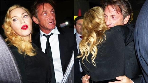 Madonna i Sean Penn: Czułe przywitanie po latach. /Splashnews