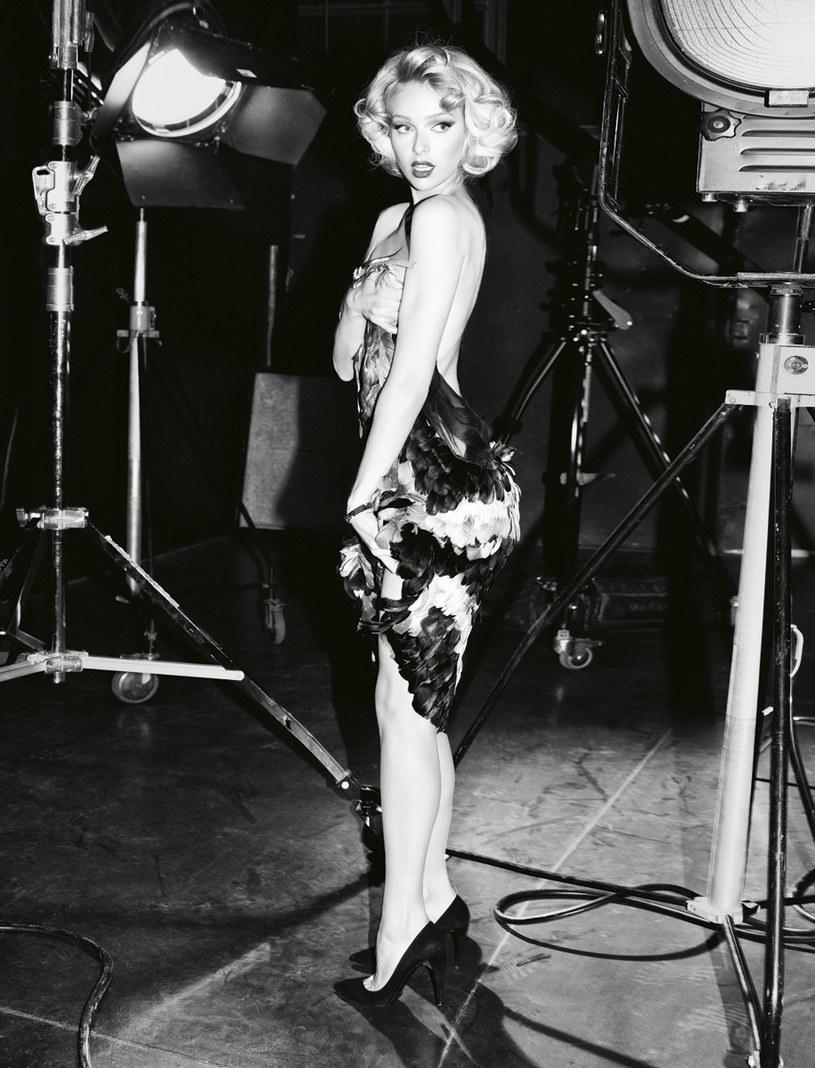 Magdalena Mielcarz wystylizowana na Marilyn Monroe  /Zuza Krajewska i Bartek Wieczorek /Pani
