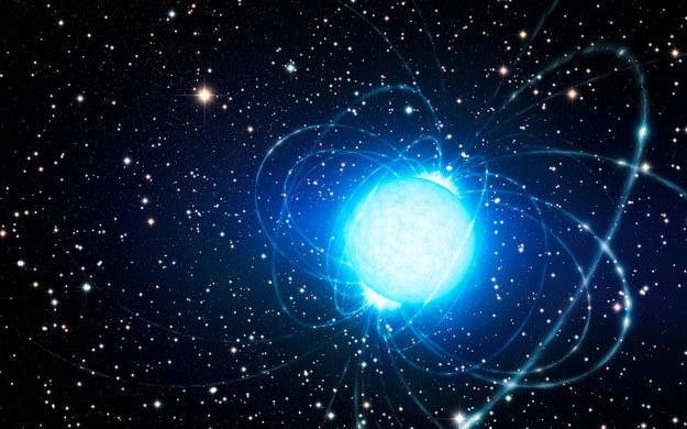 Magnetar w gromadzie gwiazd Westerlund 1 Źródło: ESO/L. Calçada /materiały prasowe