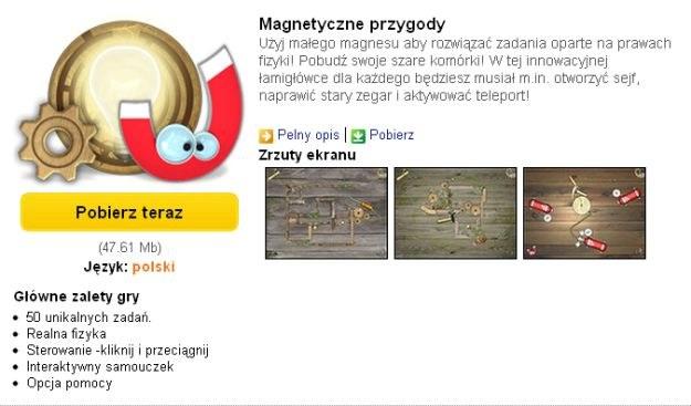 Magnetyczne przygody - gra na pobudzenie szarych komórek /INTERIA.PL