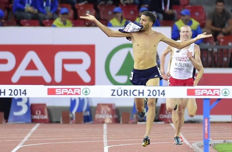 Mahiedine Mekhissi-Benabbad w taki sposób kończył bieg na 3000 m z przeszkodami /AFP