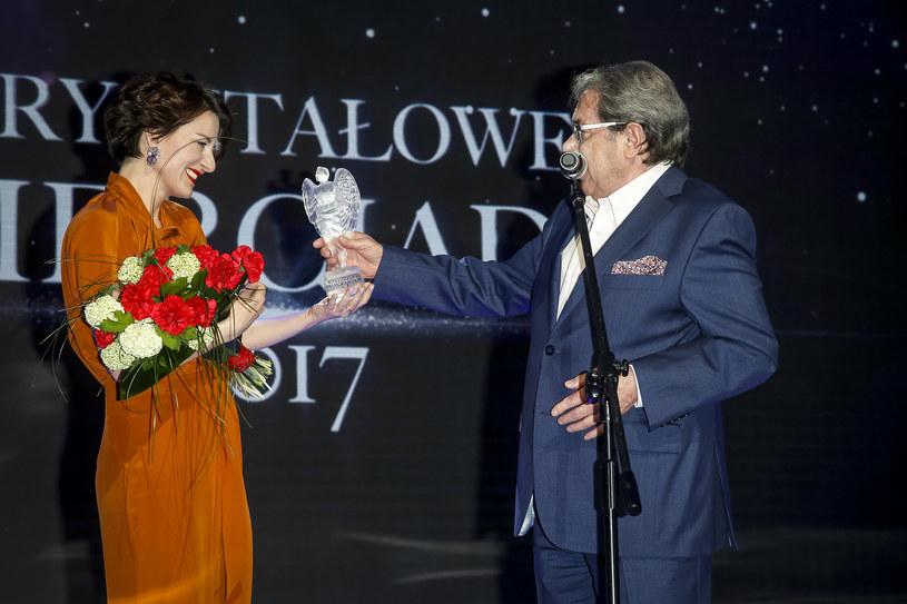 """Maja Ostaszewska została wyróżniona nagrodą """"Kryształowe Zwierciadła"""" /Baranowski /AKPA"""