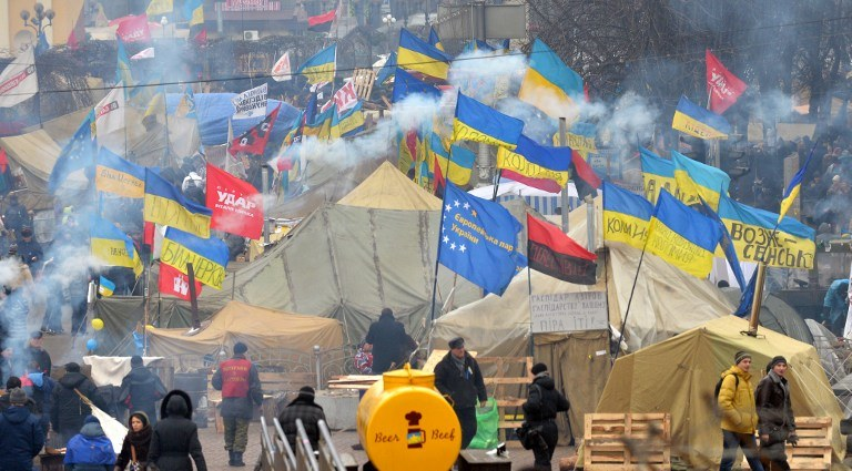 Majdan w Kijowie /AFP