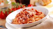 Makaron z włoskim sosem amatriciana