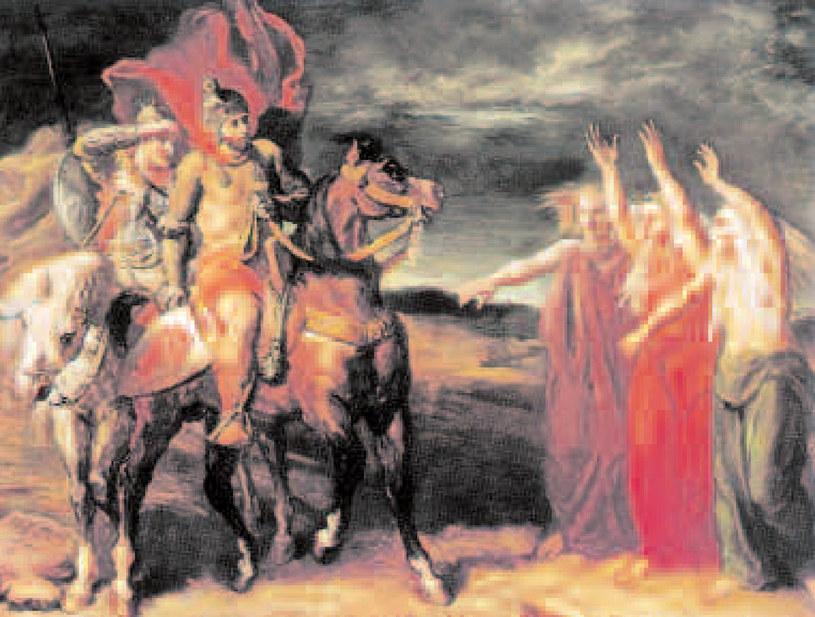 Makbet i trzy czarownice, Théodore Chassériau, 1855 r. /Encyklopedia Internautica