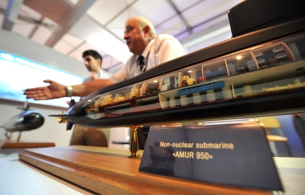 Makieta okrętu Amur 950 /AFP