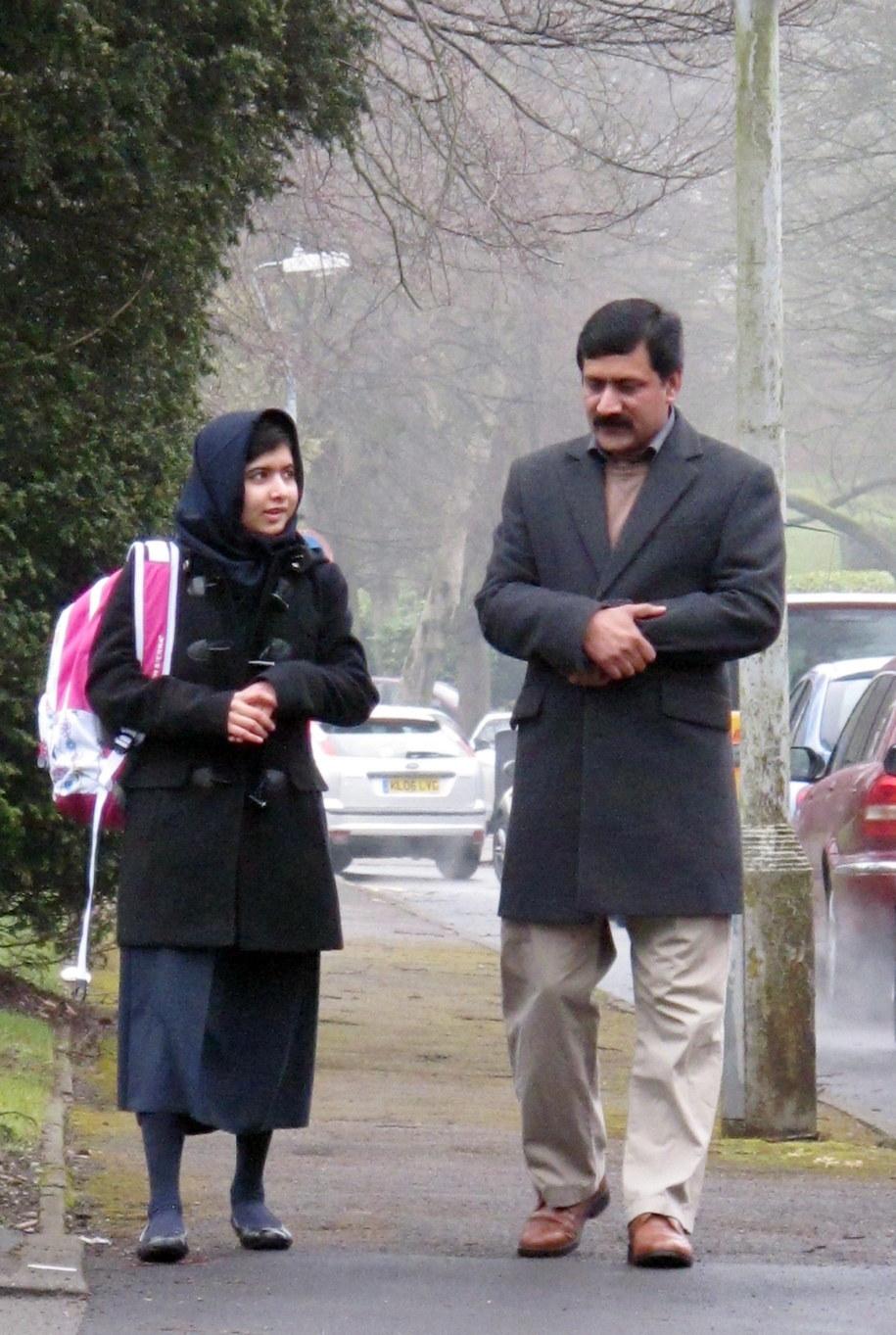 Malala ze swoim tatą /MALALA PRESS OFFICE /PAP/EPA