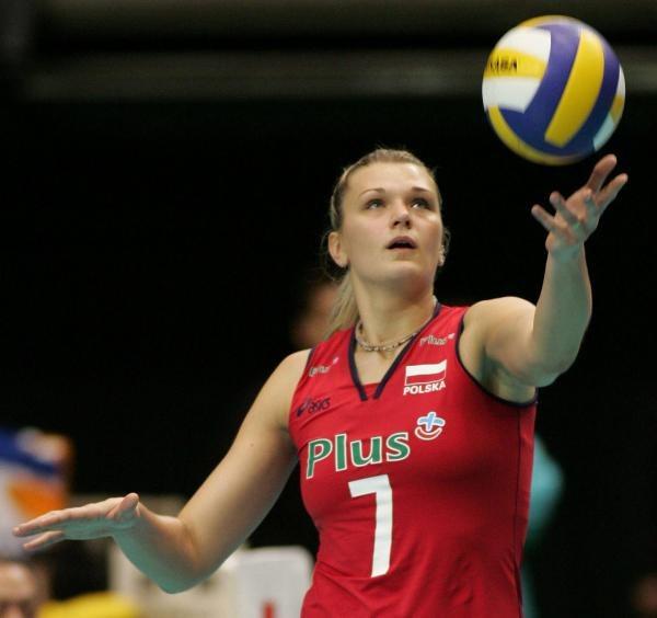 Małgorzata Glinka w meczu z Brazylią zdobyła najwięcej punktów dla polskiego zespołu /www.fivb.org