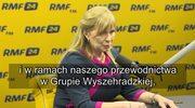 Małgorzata Gosiewska w Popołudniowej rozmowie w RMF FM: W najbliższym czasie szereg spotkań z europejskimi sojusznikami