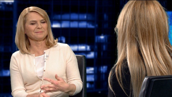 Małgorzata Tusk (z lewej) w programie Moniki Olejnik (z prawej) /TVN24/x-news /TVN24/x-news