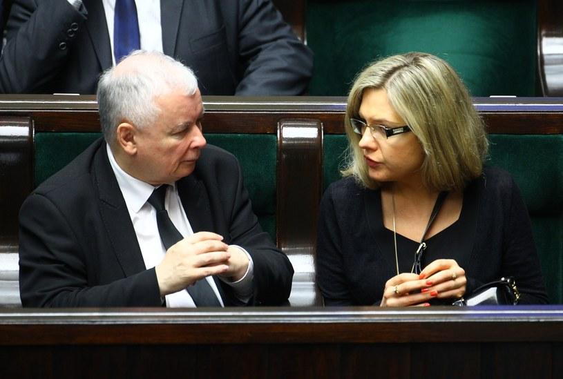 Małgorzata Wassermann i Jarosław Kaczyński /Stanisław Kowalczuk /East News