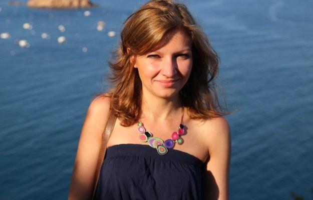 Małgosia Elwertowska na wakacjach - miesiąc później trafiła do szpitala. Fot: archiwum rodzinne /