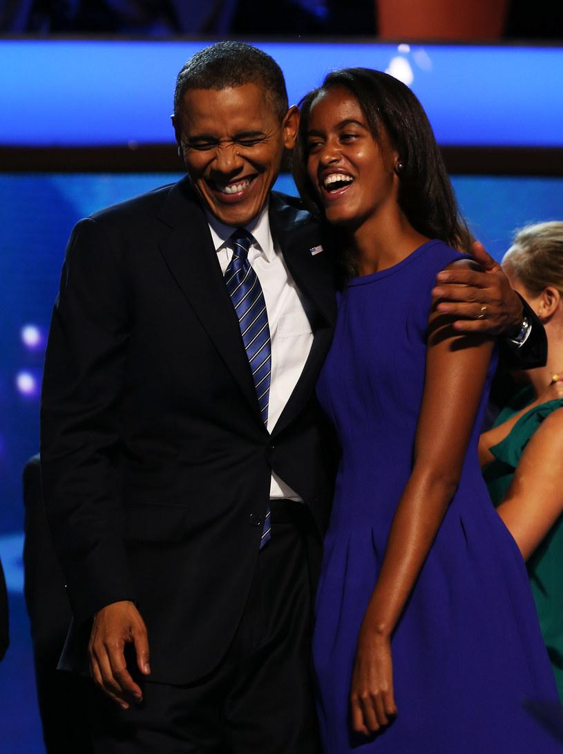 Malia Obama z ojcem /Getty Images