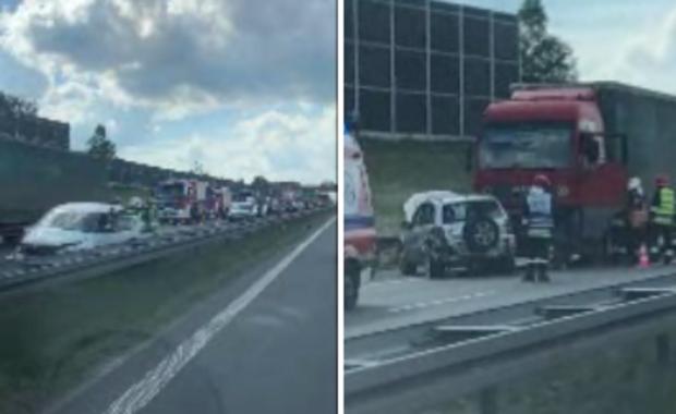 Małopolskie: Karambol na autostradzie A4