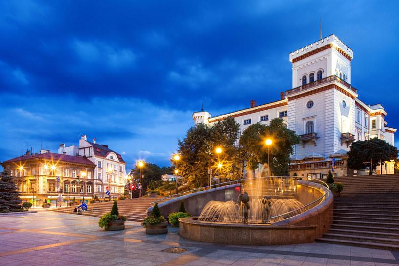 Malownicza fontanna u stóp zamku książąt Sułkowskich najpiękniej prezentuje się wieczorem /123RF/PICSEL
