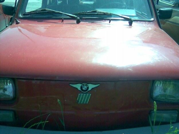 Maluch i BMW ze skrzydełkami