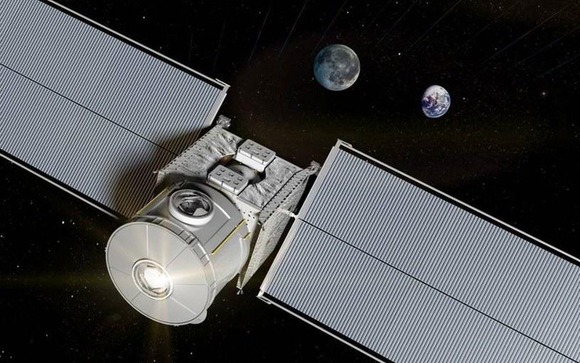 Mały moduł mieszkalny na wysokiej orbicie okołoksiężycowej - wizualizacja. /materiały prasowe