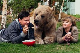 Małżeństwo Rosjan mieszka z niedźwiedziem