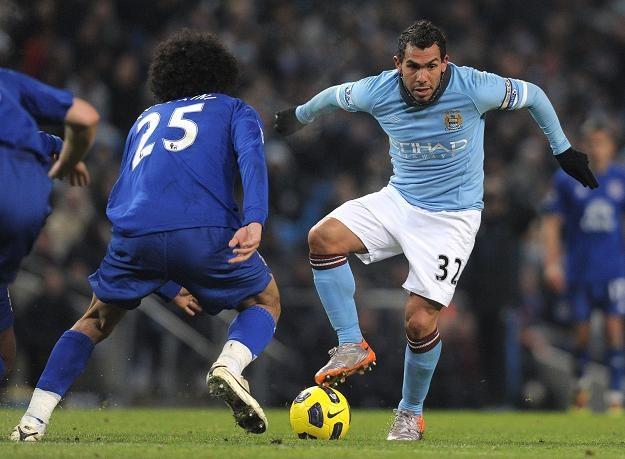 Manchester City przegrał z Evertonem 1-2 /AFP