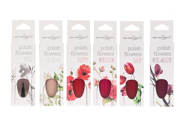 Manicure pachnące kwiatami