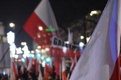 Manifestacja PiS w 35. rocznicę stanu wojennego