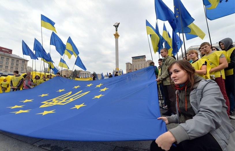 Manifestacja proeuropejska w Kijowie /AFP