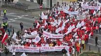 Manifestacja służby zdrowia w Warszawie