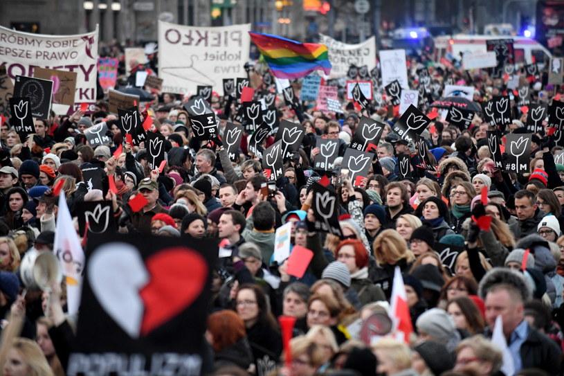 Manifestacja w Warszawie /Bartłomiej Zborowski /PAP