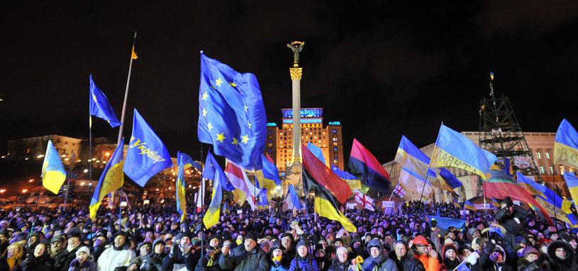 Manifestacje w Kijowie /AFP