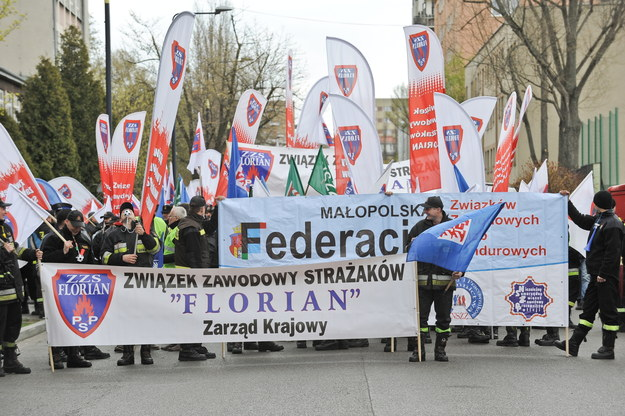 Manifestacje związkowców OPZZ /Paweł Supernak /PAP