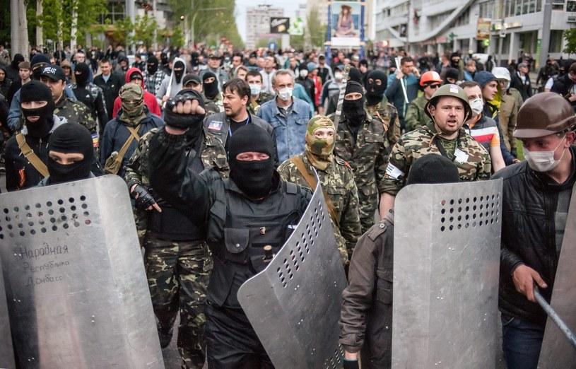 Manifestanci byli bici pałkami i zaostrzonymi rurami. /ROMAN PILIPEY /PAP/EPA