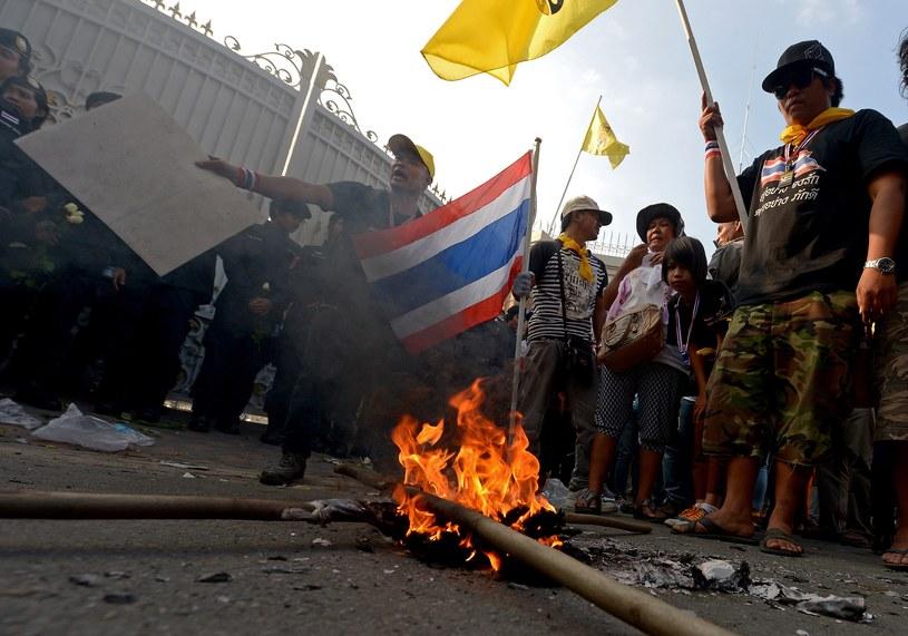 Manifestanci domagają się dymisji pani premier /AFP