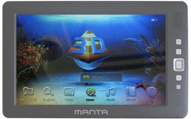 Manta 3D Multimedia Player - zdjęcie /Informacja prasowa