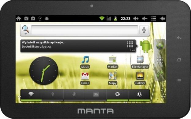 Manta wprowadza na rynek kolejny tablet z Androidem 2.3 /materiały prasowe