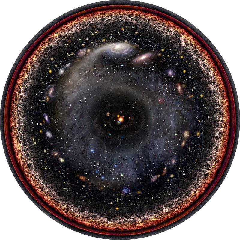 Mapa całego znanego nam wszechświata /materiały prasowe