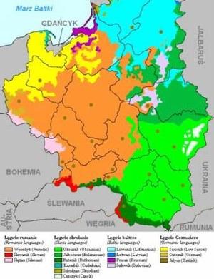 Mapa językowa Rzejpubiełki/ ze str. steen.free.fr /Internet