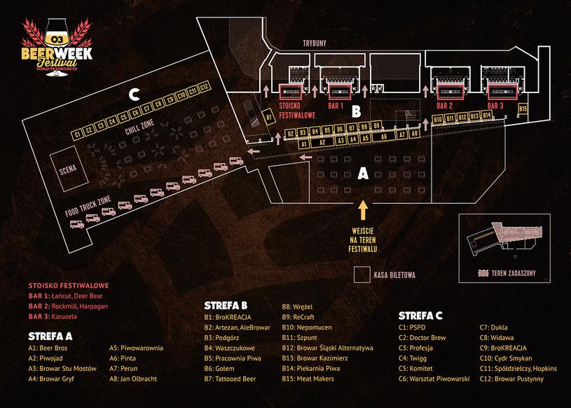 Mapa krakowskiej imprezy /materiały prasowe