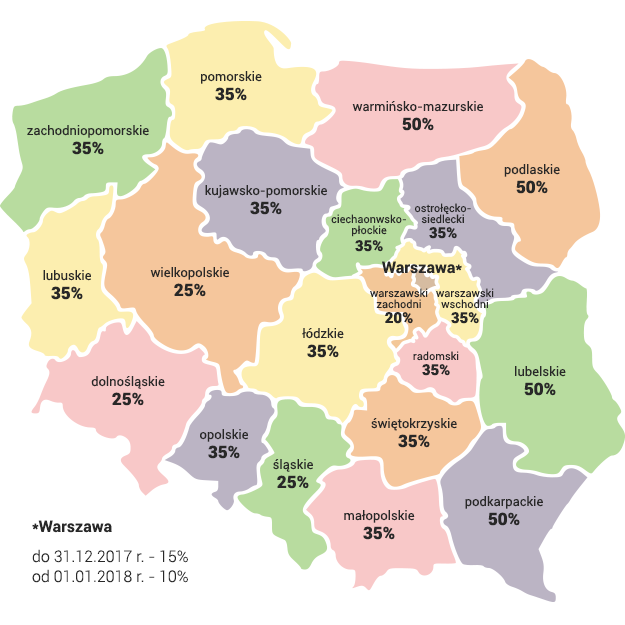 Mapa pomocy regionalnej /INTERIA
