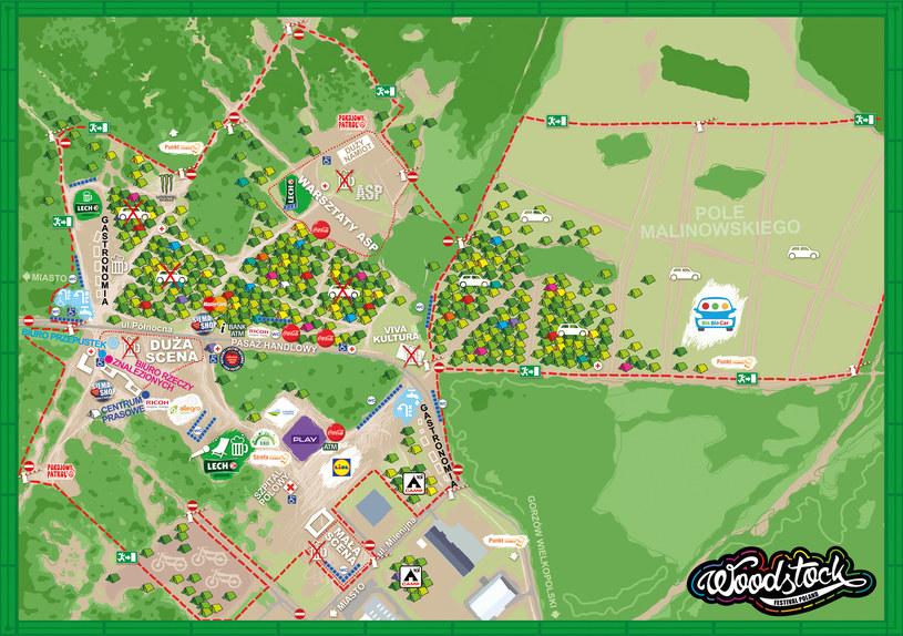Mapa Przystanku Woodstock 2016 /WOŚP