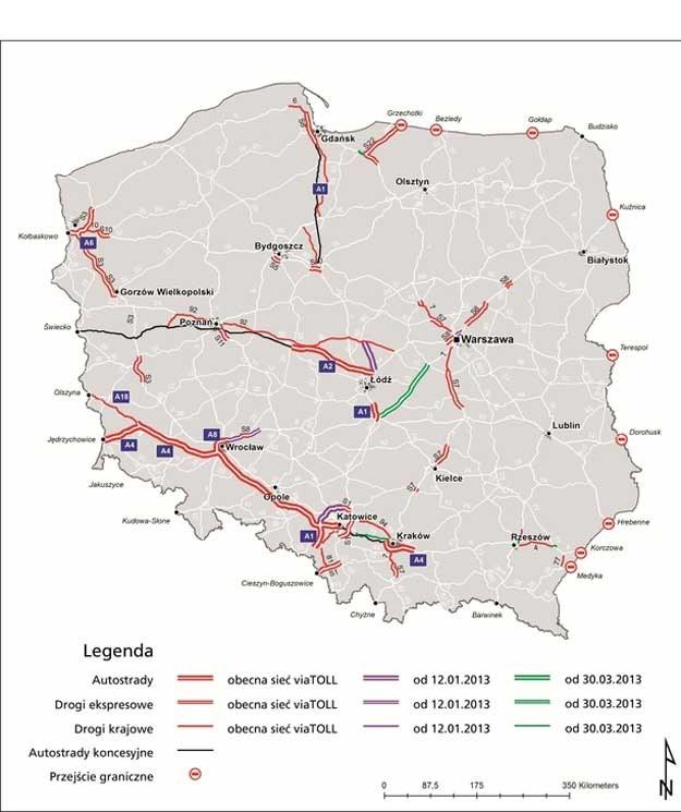 Mapa rozszerzeń viaToll /